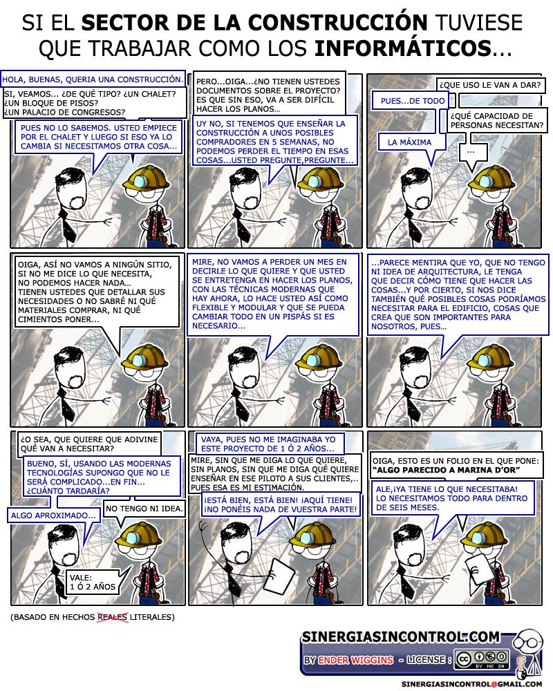 Sector Construcción vs Sector Informático