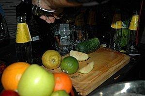 Frutas y verduras con Gin