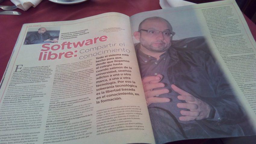 Entrevista Software Libre REvista ECOS