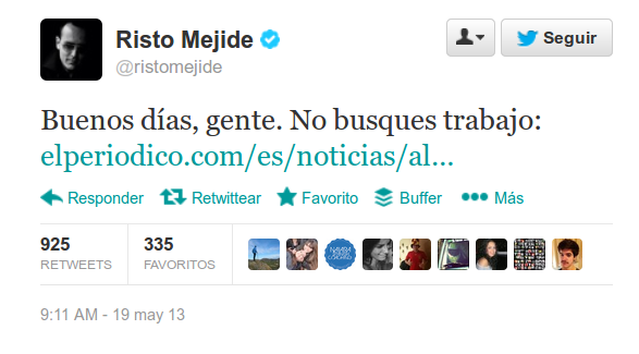 Twitter Risto Mejide