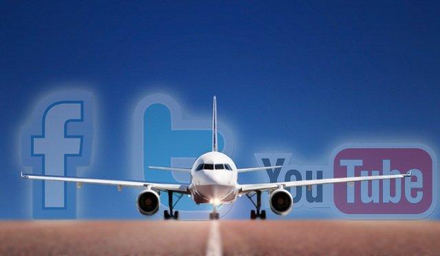 Aviones y social media