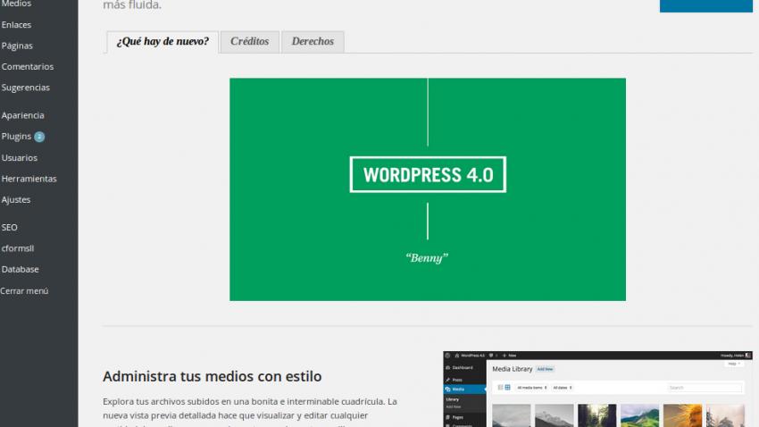 Nuevo WordPress