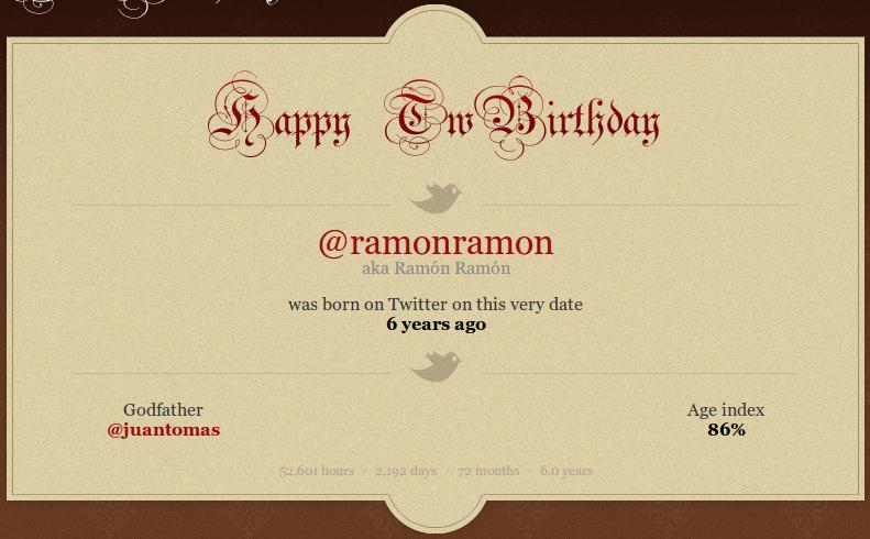 Twitter 6º aniversario