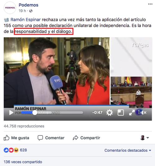 Facebook de Podemos
