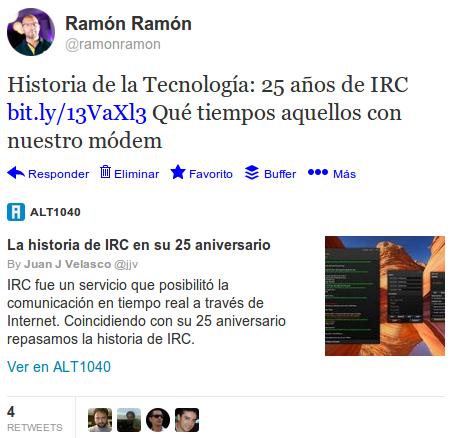 25 años del IRC