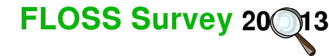 FLOSS Survey 2013