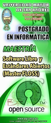 Master Software libre UMSA