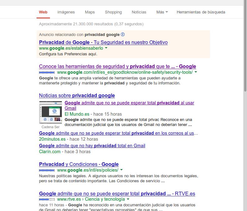 Google y tu nula privacidad