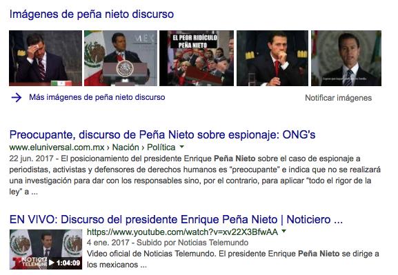 Los videos y las imágenes también forman parte de los resultados de búsqueda de Google.